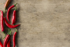 Peperoni di peperoncini rossi roventi Fotografia Stock Libera da Diritti