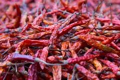 Peperoni di peperoncini rossi secchi Immagine Stock Libera da Diritti