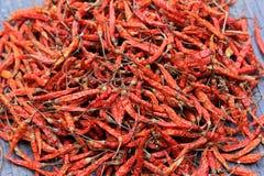 Peperoni di peperoncini rossi secchi Fotografie Stock