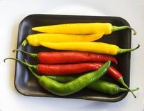 Peperoni di peperoncino rosso Fotografia Stock