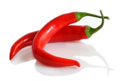Peperoni di peperoncino rosso Immagine Stock