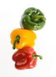 Peperoni di peperoncino rosso Fotografie Stock Libere da Diritti