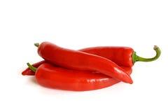 Peperoni di peperoncino rosso Fotografia Stock Libera da Diritti