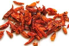 Peperoni di peperoncino rosso asciutti Fotografie Stock Libere da Diritti