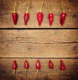Peperoni di peperoncino rosso caldo Immagine Stock Libera da Diritti