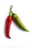 Peperoni di peperoncino rosso caldo Fotografia Stock Libera da Diritti