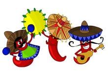 Peperoni di peperoncino rosso messicani caldi Fotografia Stock Libera da Diritti