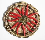Peperoni di peperoncino rosso rosso Fotografia Stock