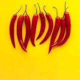 Peperoni di peperoncino rosso rosso Immagini Stock