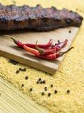 Peperoni di peperoncino rosso rosso caldi Immagine Stock Libera da Diritti