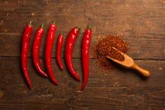 Peperoni di peperoncino rosso roventi immagini stock