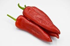 Peperoni di peperoncino rosso roventi E fotografia stock libera da diritti