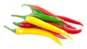 Peperoni di peperoncino rosso variopinti Immagini Stock