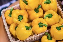 Peperoni dolci dolci variopinti, sfondo naturale Fotografie Stock