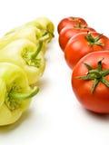 Peperoni dolci e pomodori Fotografie Stock