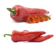Peperoni dolci rossi Immagini Stock Libere da Diritti