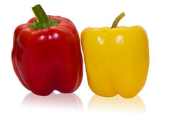 Peperoni dolci rossi e gialli Fotografie Stock