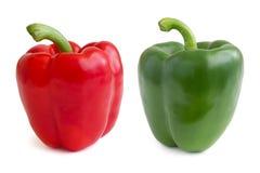 Peperoni dolci rossi e verdi Fotografie Stock Libere da Diritti