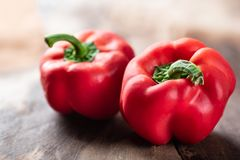 Peperoni dolci rossi o peperoni dolci Fotografia Stock Libera da Diritti