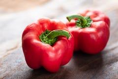 Peperoni dolci rossi o peperoni dolci Fotografie Stock