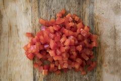 Peperoni dolci rossi tagliati Immagini Stock Libere da Diritti