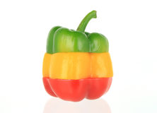 Peperoni dolci su bianco Fotografia Stock Libera da Diritti