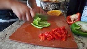 Peperoni dolci tagliati Fotografia Stock