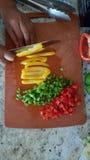 Peperoni dolci tagliati Fotografie Stock