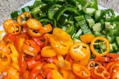 Peperoni dolci tagliati delle verdure Fotografie Stock Libere da Diritti
