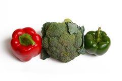 Peperoni e broccoli Fotografia Stock Libera da Diritti