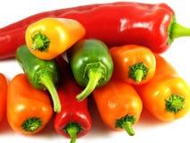 Peperoni e chillis Mixed Fotografia Stock