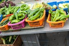 Peperoni e verdure differenti Immagine Stock