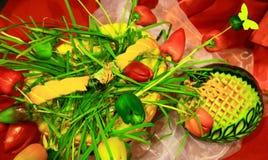 Peperoni ed anguria Fotografie Stock Libere da Diritti