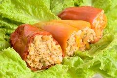 Peperoni farciti Fotografie Stock Libere da Diritti