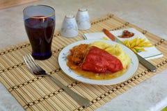 Peperoni farciti Fotografia Stock