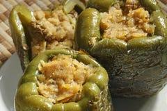 Peperoni farciti della lenticchia Fotografia Stock Libera da Diritti