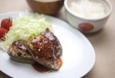 Peperoni farciti di stile giapponese Fotografie Stock Libere da Diritti