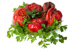 Peperoni farciti vegetariani Fotografia Stock