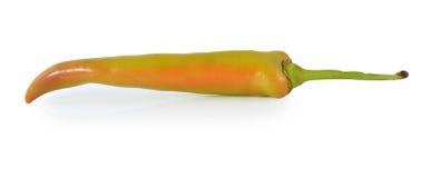 Peperoni isolati su priorità bassa bianca Fotografia Stock