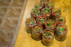 Peperoni marinati casalinghi Fotografie Stock