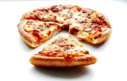 Peperoni pizza on white isolate Stock Photos