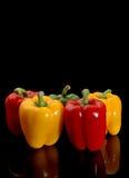 Peperoni rossi e gialli Immagine Stock Libera da Diritti