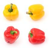 Peperoni rossi e gialli Fotografia Stock Libera da Diritti