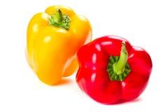 Peperoni rossi e gialli Fotografie Stock