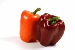Peperoni rossi ed arancioni Fotografia Stock Libera da Diritti