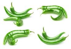 Peperoni verdi caldi Fotografia Stock