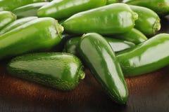 Peperoni verdi del jalapeno Fotografie Stock