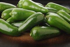 Peperoni verdi del jalapeno Fotografia Stock Libera da Diritti