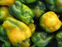 Peperoni verdi e gialli Immagini Stock Libere da Diritti