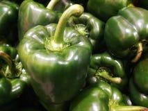 Peperoni verdi freschi immagini stock libere da diritti